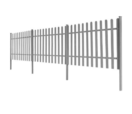 vidaXL Clôture à piquets avec poteaux 3 pcs WPC 600x100 cm[2/4]