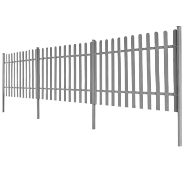 vidaXL Statinių tvora su stulpais, 3vnt., 600x100cm, WPC[2/4]