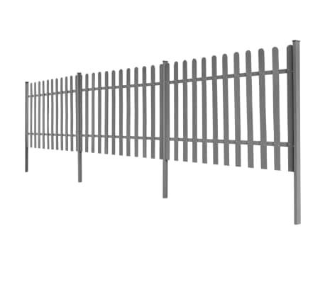 vidaXL Statinių tvora su stulpais, 3vnt., 600x120cm, WPC[2/4]