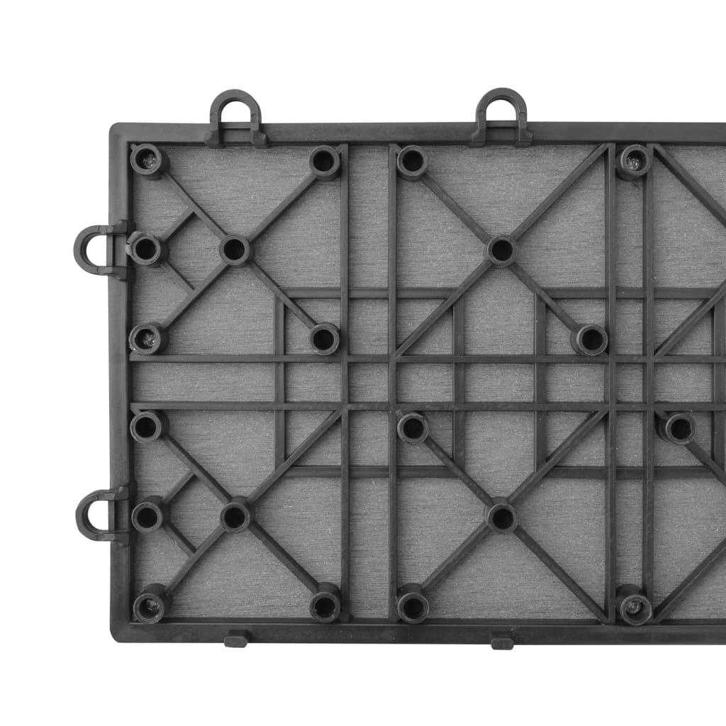 panneau de terrasse 34 pcs pour spa wpc 255 x 210 cm gris - eur 392