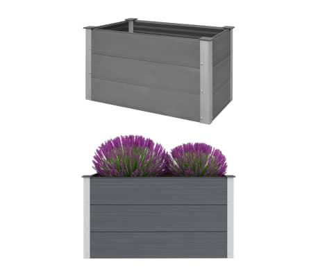 vidaXL Odlingslåda WPC 100x50x54 cm grå[1/8]