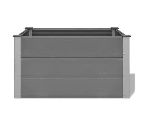 vidaXL Odlingslåda WPC 100x50x54 cm grå[4/8]