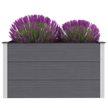 vidaXL Odlingslåda WPC 100x50x54 cm grå[2/8]