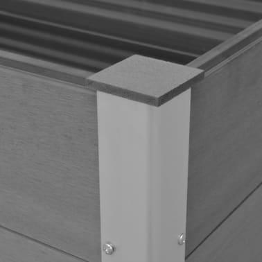 vidaXL Odlingslåda WPC 100x50x54 cm grå[6/8]