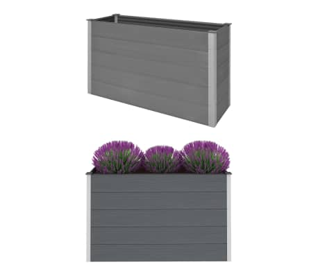 vidaXL Garden Raised Bed WPC 150x50x91 cm Grey
