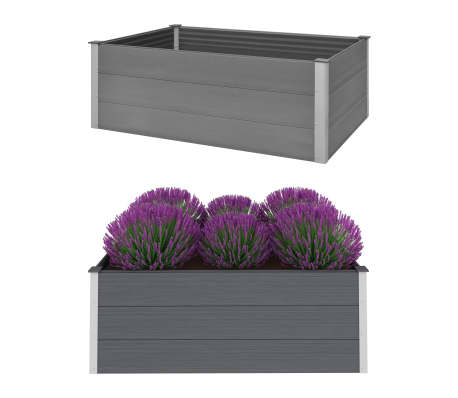 vidaXL plantekasse WPC 150 x 100 x 54 cm grå[1/6]
