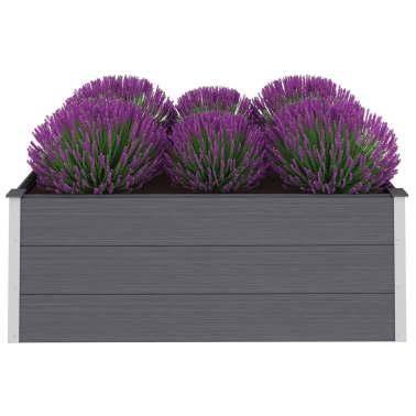 vidaXL plantekasse WPC 150 x 100 x 54 cm grå[2/6]