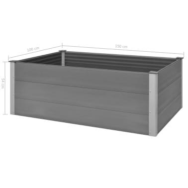 vidaXL plantekasse WPC 150 x 100 x 54 cm grå[8/8]