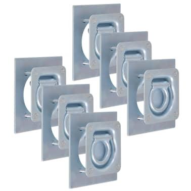 vidaXL Zurrösen für Anhänger 6 Stk. Verzinkter Stahl 2000 kg[1/7]