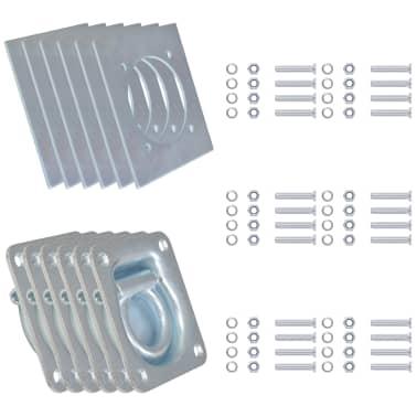 vidaXL Zurrösen für Anhänger 6 Stk. Verzinkter Stahl 2000 kg[2/7]