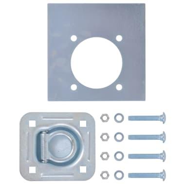 vidaXL Zurrösen für Anhänger 6 Stk. Verzinkter Stahl 2000 kg[3/7]