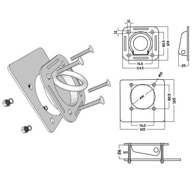 vidaXL Zurrösen für Anhänger 6 Stk. Verzinkter Stahl 2000 kg[7/7]