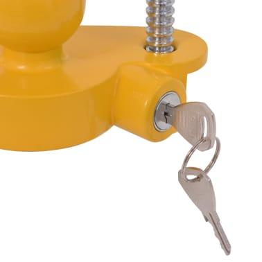 vidaXL Trailer Lock with 2 Keys Steel and Aluminium Alloy Yellow[6/7]
