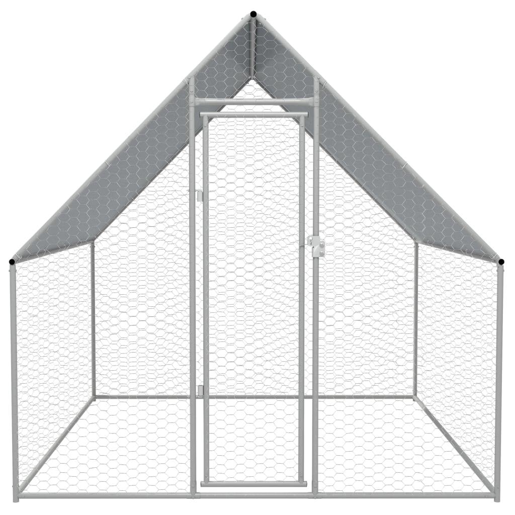 999170494 Outdoor-Hühnerkäfig Verzinkter Stahl 2 x 2 x 2 m
