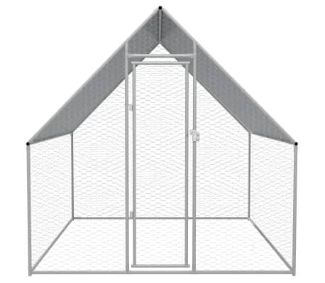 """vidaXL Outdoor Chicken Cage Galvanized Steel 6'6""""x6'6""""x6'6""""[2/5]"""