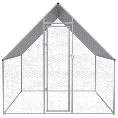 vidaXL Zunanji kokošnjak iz pocinkanega jekla 2x2x2 m[2/5]
