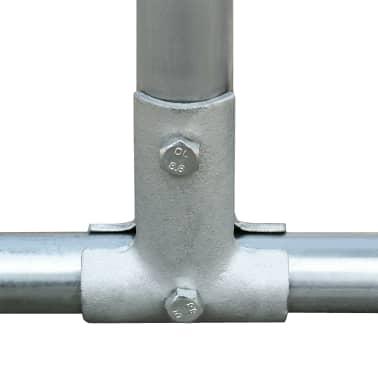 vidaXL Zunanji kokošnjak iz pocinkanega jekla 2x2x2 m[3/5]
