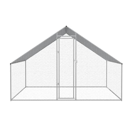 """vidaXL Outdoor Chicken Cage Galvanized Steel 9'10""""x6'6""""x6'6""""[2/5]"""