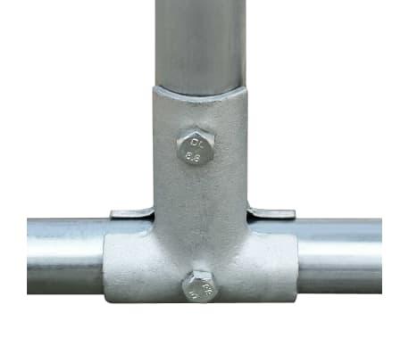 """vidaXL Outdoor Chicken Cage Galvanized Steel 9'10""""x6'6""""x6'6""""[3/5]"""