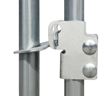 """vidaXL Outdoor Chicken Cage Galvanized Steel 9'10""""x6'6""""x6'6""""[4/5]"""