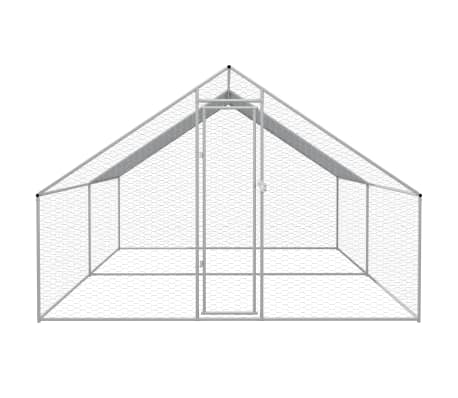 vidaXL Outdoor-Hühnerkäfig Verzinkter Stahl 3 x 4 x 2 m[2/5]