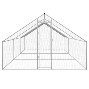 vidaXL Zunanji kokošnjak iz pocinkanega jekla 3x6x2 m[2/5]