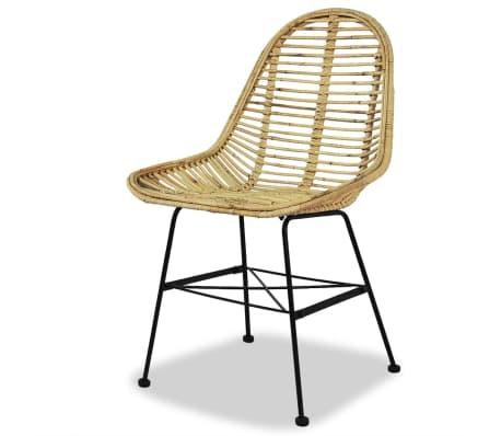 vidaXL Dining Chairs 2 pcs Natural Rattan[3/5]