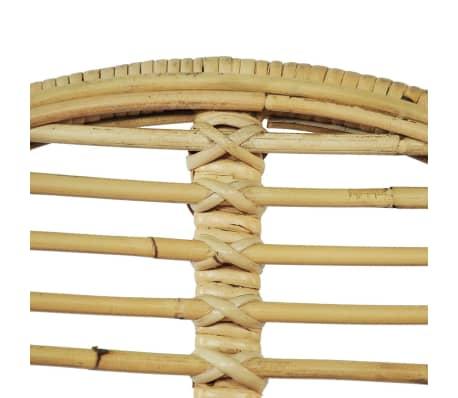 vidaXL Krzesła do jadalni, 2 szt., naturalny rattan[4/5]