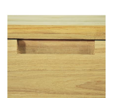 vidaXL Wandtafel 120x35x76 cm massief teakhout[9/10]