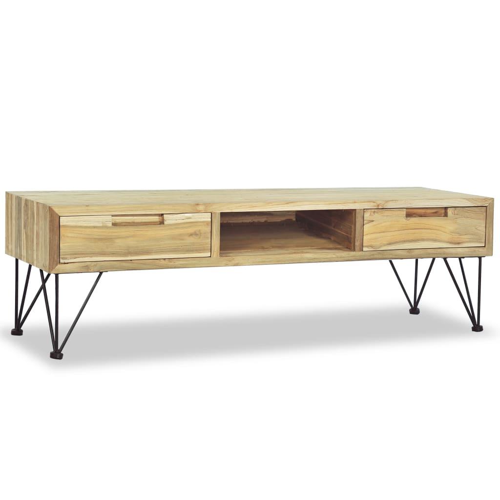 vidaXL Szafka pod telewizor, 120 x 35 x 35 cm, lite drewno tekowe