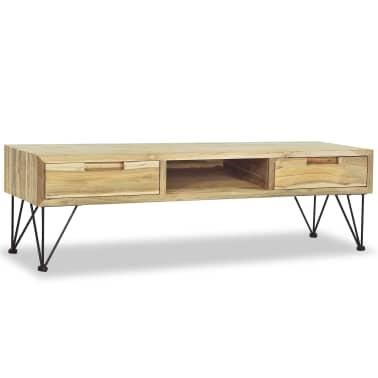 vidaXL TV spintelė, 120x35x35cm, masyvi tikmedžio mediena[1/10]
