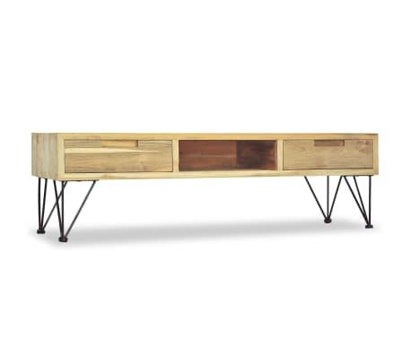 vidaXL TV spintelė, 120x35x35cm, masyvi tikmedžio mediena[4/10]