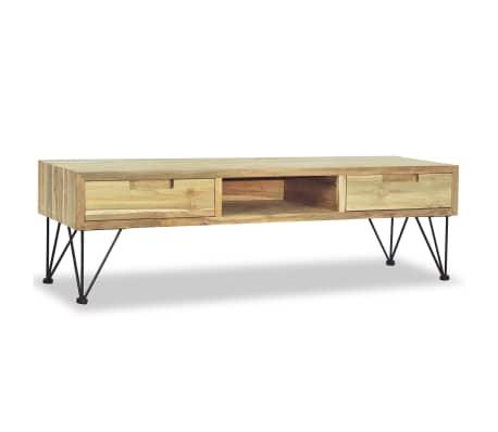 vidaXL TV spintelė, 120x35x35cm, masyvi tikmedžio mediena[5/10]