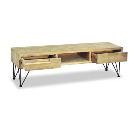 vidaXL TV spintelė, 120x35x35cm, masyvi tikmedžio mediena[7/10]