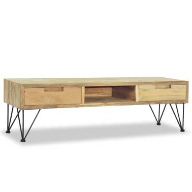 vidaXL TV spintelė, 120x35x35cm, masyvi tikmedžio mediena[3/10]