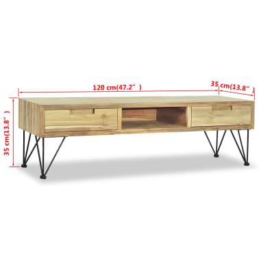 vidaXL TV spintelė, 120x35x35cm, masyvi tikmedžio mediena[10/10]