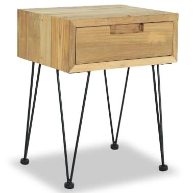 vidaXL Nočný stolík z teakového dreva, 40x30x50 cm[1/9]