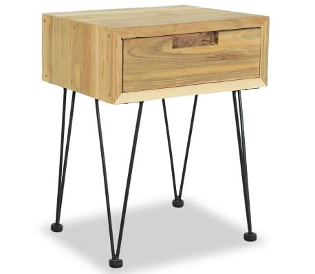 vidaXL Nočný stolík z teakového dreva, 40x30x50 cm[3/9]