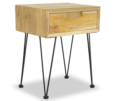 vidaXL Nočný stolík z teakového dreva, 40x30x50 cm[5/9]