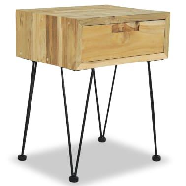 vidaXL Nočný stolík z teakového dreva, 40x30x50 cm[2/9]
