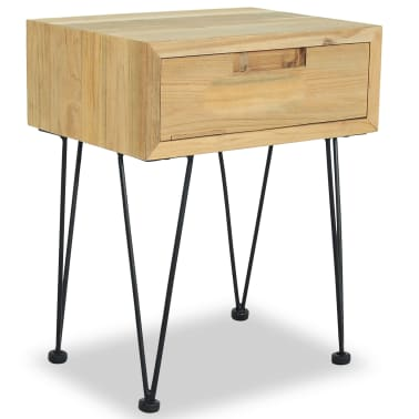 vidaXL Nočný stolík z teakového dreva, 40x30x50 cm[4/9]