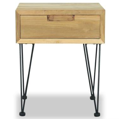 vidaXL Nočný stolík z teakového dreva, 40x30x50 cm[6/9]