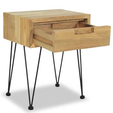 vidaXL Nočný stolík z teakového dreva, 40x30x50 cm[7/9]