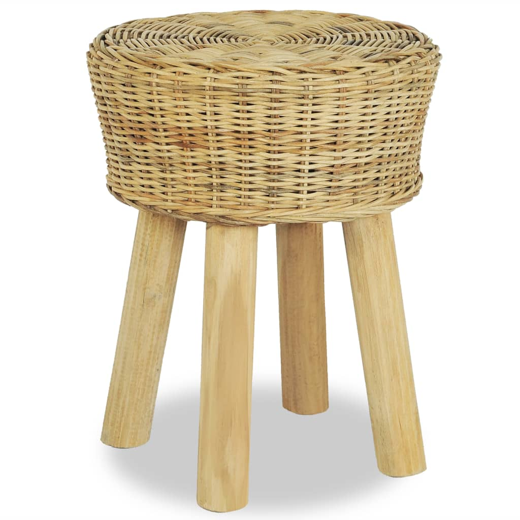 Barová stolička přírodní ratan