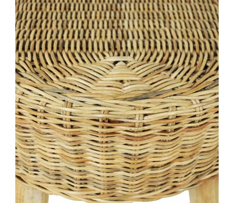 vidaXL Hall Bench 110x35x45 cm Natural Rattan[4/5]
