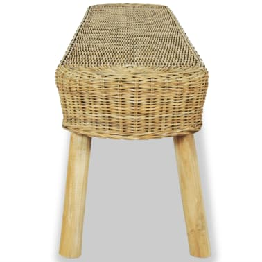 vidaXL Hall Bench 110x35x45 cm Natural Rattan[3/5]