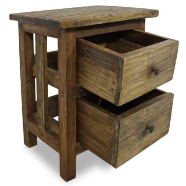 """vidaXL Nightstand Solid Reclaimed Wood 15.7""""x11.8""""x20.1""""[2/7]"""