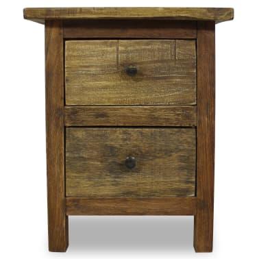 """vidaXL Nightstand Solid Reclaimed Wood 15.7""""x11.8""""x20.1""""[3/7]"""