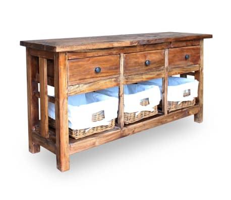vidaxl sideboard altholz massiv 100 x 30 x 50 cm g nstig kaufen. Black Bedroom Furniture Sets. Home Design Ideas