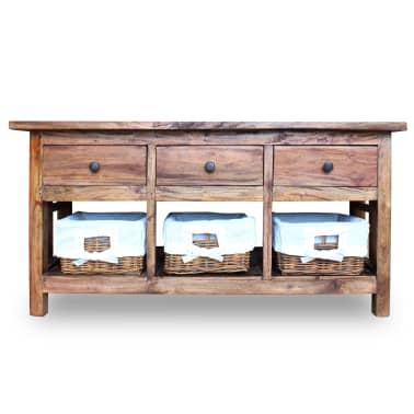 """vidaXL Sideboard Solid Reclaimed Wood 39.4""""x11.8""""x19.7""""[2/6]"""